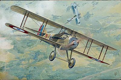 1/32 仏スパッドXIIIc.1初期型・複葉戦闘機WW1 プラモデル[ローデン]《06月予約》
