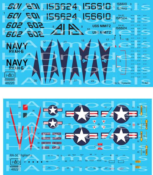 1/48 アメリカ海軍 RA-5C ヴィジランティ USSニミッツ 1978 デカール[HADモデル]《在庫切れ》