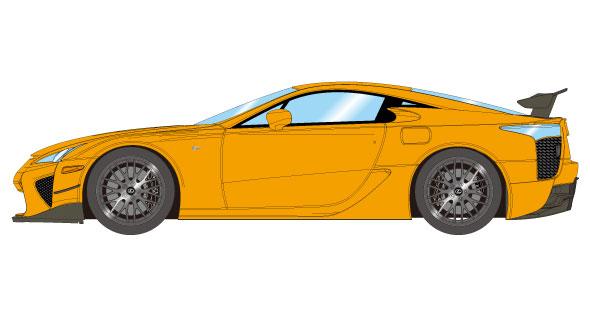 1/43 レクサス LFA ニュルブルクリンクパッケージ 2012 オレンジ[メイクアップ]【送料無料】《在庫切れ》