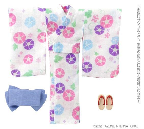 ピコニーモ用 1/12 浴衣set~朝顔と乙女~ 月白色 (ドール用)[アゾン]《発売済・在庫品》