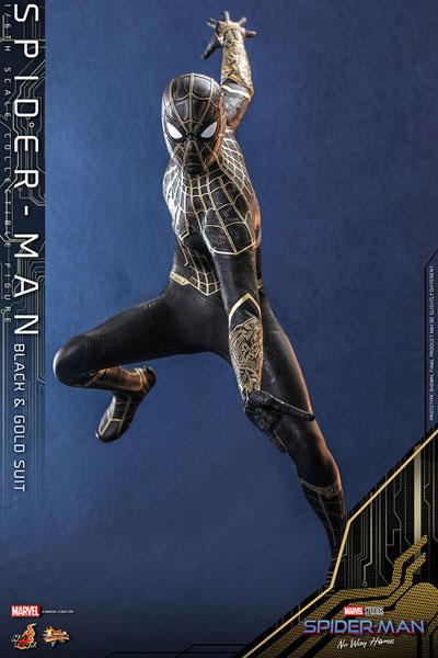 ムービーマスターピース 1/6 スパイダーマン ブラック&ゴールドスーツ ※延期前倒可能性大[ホットトイズ]【同梱不可】【送料無料】《01月仮予約》