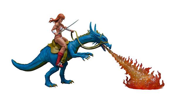 ゴールデンアックス アクションフィギュア ティリス=フレアー & ブルードラゴン セット[ストームコレクティブルズ]《12月仮予約》