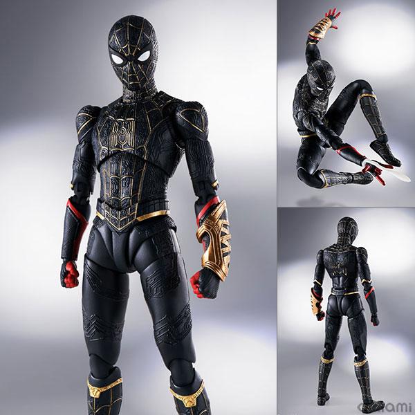 【特典】S.H.Figuarts スパイダーマン[ブラック&ゴールドスーツ](スパイダーマン:ノー・ウェイ・ホーム)[BANDAI SPIRITS]《01月予約》