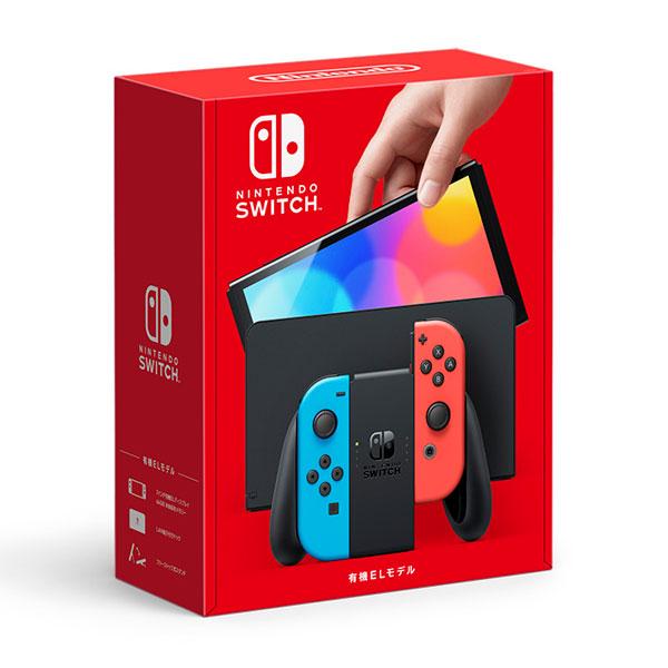 Nintendo Switch(有機ELモデル) Joy-Con(L) ネオンブルー/(R) ネオンレッド[任天堂]【同梱不可】《在庫切れ》