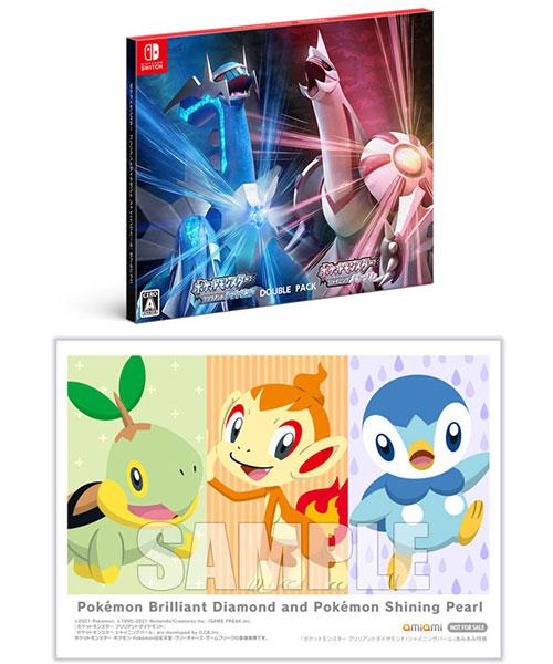 【特典】Switch 『ポケットモンスター ブリリアントダイヤモンド・シャイニングパール』ダブルパック あみあみオリジナル特典[任天堂]《11月予約》