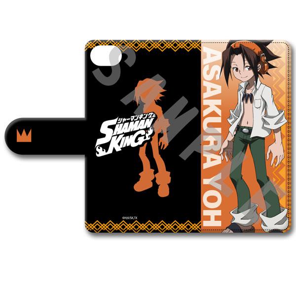 『SHAMAN KING』手帳型スマホケース(iPhone6 7 8 SE2) デザインB(麻倉葉)[シンクイノベーション]《在庫切れ》