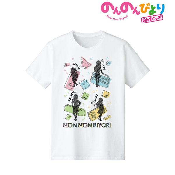 のんのんびより のんすとっぷ Ani-Sketch Tシャツ メンズ L[アルマビアンカ]《10月予約》
