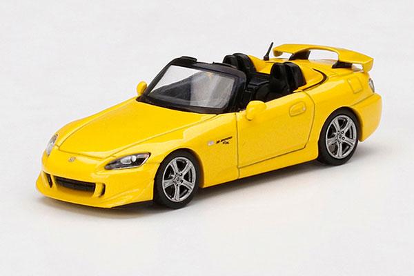 1/64 Honda S2000 Type S ニューインディーイエローパール(右ハンドル)[MINI GT]《11月予約》
