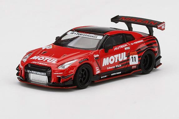 1/64 LB★WORKS Nissan GT-R R35 タイプ2 リアウイング バージョン 3 Infinite MOTUL(右ハンドル)[MINI GT]《01月予約》