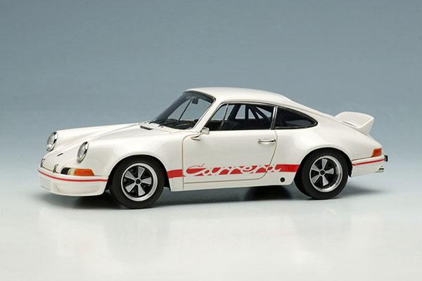 1/43 ポルシェ 911 カレラ RSR 2.8 1973 ホワイト/レッドストライプ(再販)[メイクアップ]【送料無料】《12月予約》