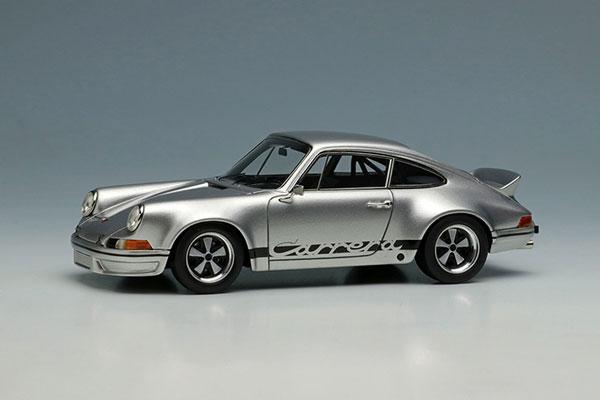 1/43 ポルシェ 911 カレラ RSR 2.8 1973 シルバー/ブラックストライプ[メイクアップ]【送料無料】《12月予約》