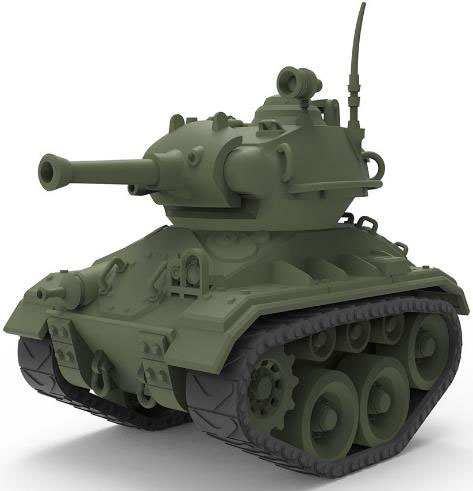 WWT アメリカ軽戦車 M24 チャーフィー プラモデル[MENG Model]《11月予約》