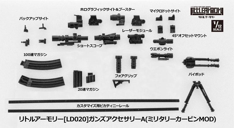 リトルアーモリー[LD020]ガンズアクセサリーA 1/12 プラモデル