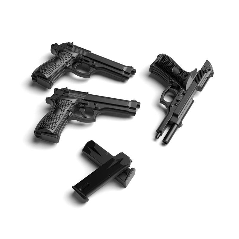 リトルアーモリー[LA049]M9&M93Rタイプ 1/12 プラモデル