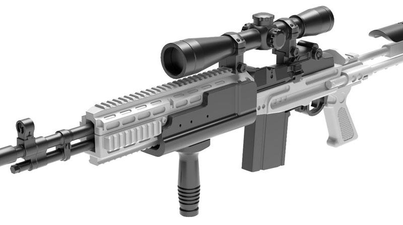 リトルアーモリー[LA051]Mk14Mod0 EBRタイプ 1/12 プラモデル