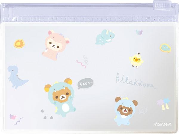 MH00302 リラックマ リラックマのきょうりゅうごっこ ケース付箋メモ_1
