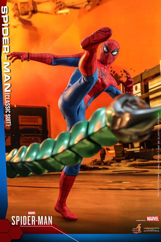 ビデオゲーム・マスターピース『Marvel's Spider-Man』1/6スケールフィギュア スパイダーマン(クラシック・スーツ版) ※延期・前倒し可能性大[ホットトイズ]