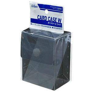カードケースW クリアブラック