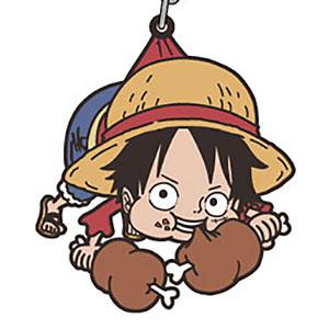 From TV animation ワンピース ルフィ つままれキーホルダー
