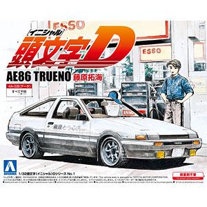 1/32 頭文字D No.1 AE86トレノ 藤原拓海 プラモデル