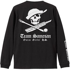 ガールズ&パンツァー最終章 サメさんチーム 袖リブロングスリーブTシャツ/BLACK-M