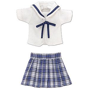 ピコニーモ用 1/12 白襟チェックセーラー服セット ブルーチェック (ドール用)