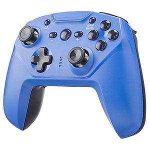ジャイロコントローラー 無線タイプ ブルー (Switch/PC/レトロフリーク用)