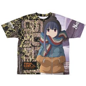 ゆるキャン△ 志摩リン 両面フルグラフィックTシャツ/XL