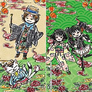 ビッグレザーストラップ「鬼灯の冷徹」03/檎&小判&ピーチ・マキ&ミキ(グラフアートデザイン)