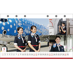 JAL「CABIN ATTENDANT」(卓上判) 2019年カレンダー
