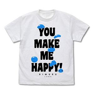 転生したらスライムだった件 みんなのリムル様 Tシャツ/WHITE-L