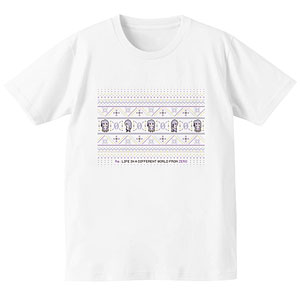 Re:ゼロから始める異世界生活 ノルディックデザインTシャツ(エミリア)/メンズ(サイズ/M)