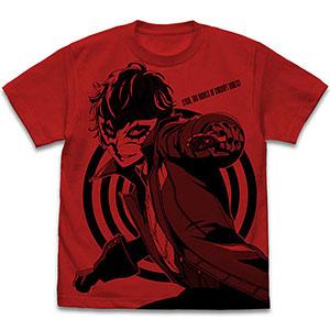 ペルソナ5(アニメ) ジョーカー オールプリントTシャツ/RED-XL