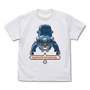 攻殻機動隊 STAND ALONE COMPLEX タチコマと同期中 Tシャツ/WHITE-XL