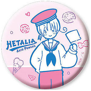 ヘタリア Axis Powers 缶バッジ 1 イタリア