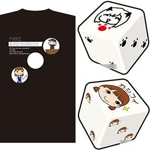 「まりえさゆりのオフラインセッション」サンキューセットXL(TシャツXLサイズ&プリントダイス2個セット)