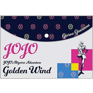 ジョジョの奇妙な冒険 黄金の風 フラットポーチ A:ジョルノ・ジョバァーナ