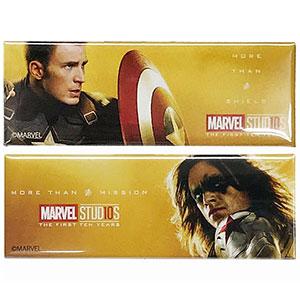 マーベルスタジオ 10th アニバーサリー/ スクエア缶バッジセット A キャプテン・アメリカ&ウィンター・ソルジャー