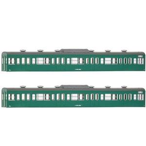 18020 国鉄(JR)103系〈低運・非ユニット窓・冷改車・エメラルドグリーン〉 増結用サハ2両ボディキット