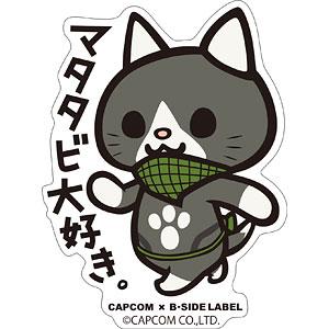 CAPCOM×B-SIDE LABELステッカー モンスターハンター マタタビ大好き。