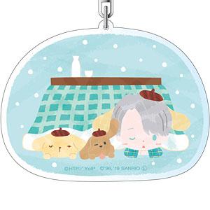ユーリ!!! on ICE × サンリオキャラクターズ りょうめんアクリルキーホルダー nukunuku・days ver. B