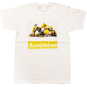 BUMBLEBEE/ バンブルビー ボックスロゴ Tシャツ TF-RS-29 ホワイト メンズ サイズM
