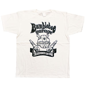 BUMBLEBEE/ バンブルビー トランスフォーマーガレージ Tシャツ TF-RS-30 ホワイト メンズ サイズL