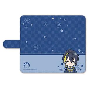 刀剣乱舞-ONLINE- ぽてだん! 手帳型モバイルフォンケース(フリーサイズ)01:三日月宗近