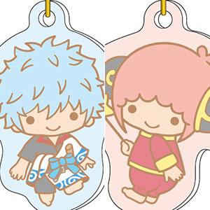 銀魂×Sanrio characters ニコイチアクリルキーチェーン 坂田銀時&神楽