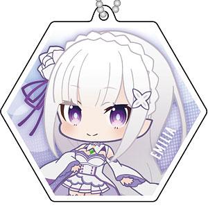 Re:ゼロから始める異世界生活 Memory Snow リフレクションキーホルダー ぷにキャラ エミリア