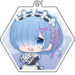 Re:ゼロから始める異世界生活 Memory Snow リフレクションキーホルダー ぷにキャラ レム