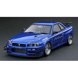 1/43 Nissan Skyline GT-R Mine's (R34) Bayside Blue