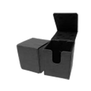 アルコーブフリップデッキボックス スエードコレクション ジェット(黒)