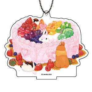 アクリルスタンドキーホルダー「不思議のもふもふカフェ」06/ゴージャスハートのショートケーキ